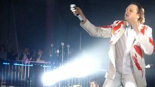 Win Butler de Arcade Fire au Pavillon Baltard de Nogent-sur-Marne le 22 nov 2013.  (Culturebox)