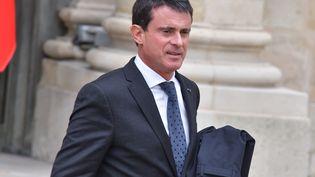 Le Premier ministre, Manuel Valls, le 18 octobre 2016 à l'Elysée. (YANN KORBI / CITIZENSIDE / AFP)