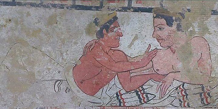 Extrait d'une fresque Etruque exposée à Meymac  (France Télévision/culturebox)