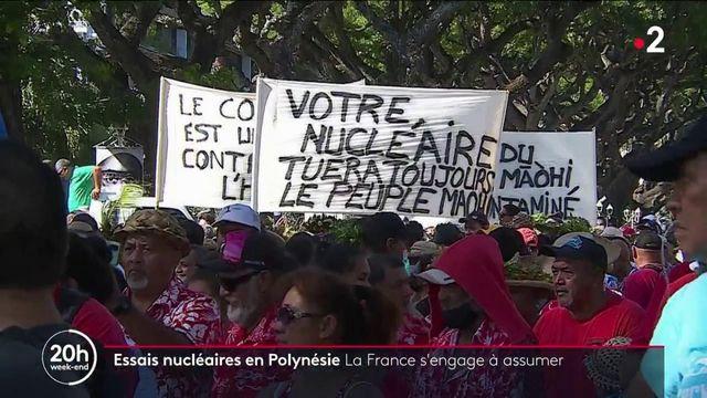 """Essai nucléaire en Polynésie française : la France """"assume"""" mais ne s'excuse pas"""
