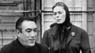 """Anthony Quinn avec Ingrid Bergman, sa partenaire dans """"La rancune""""  (STR / AFP)"""