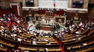L'hémicycle de l'Assemblée nationale, à Paris, le 7 septembre 2021. (QUENTIN DE GROEVE / HANS LUCAS / AFP)