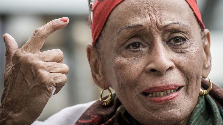 Omara Portuondo à Hong Kong, le 9 mars 2016  (Philippe Lopez / AFP)