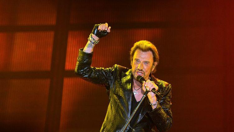 Johnny Hallyday à Bordeaux le 2 juin 2013. (NICOLAS TUCAT / AFP)