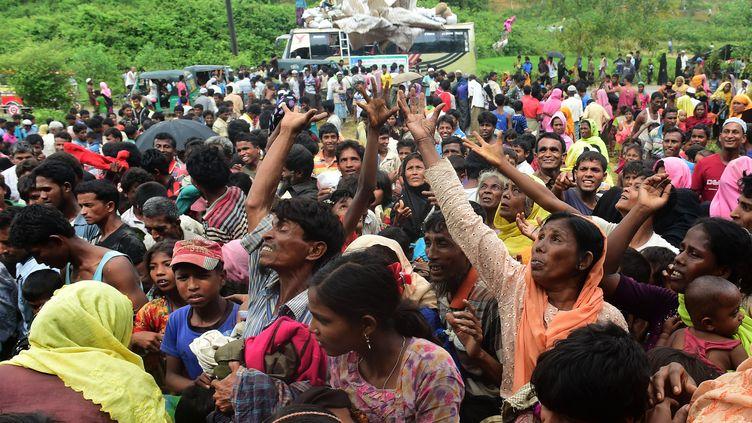 Le camp de réfugiés rohingyas de Kutupalong, au Bangladesh. (MUNIR UZ ZAMAN / AFP)