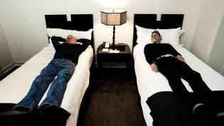 Martin Gore et Vince Clarke.  (Travis Shinn)