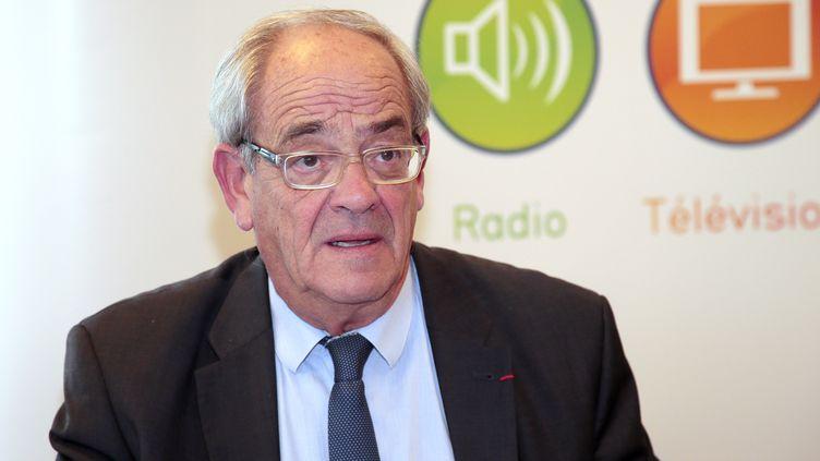 Patrice Gélinet lorsqu'il était membre du CSA, à Paris le 22 octobre 2015. (JACQUES DEMARTHON / AFP)