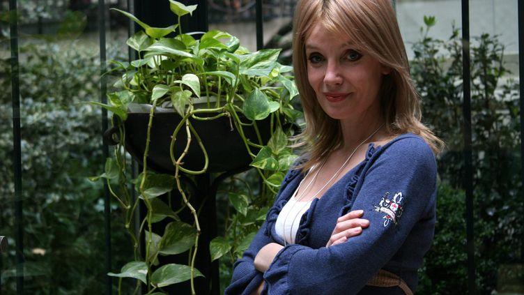 La romancière britannique Clare Dunkel, alias Mo Hayder, à Paris le 23 mars 2007 (DELPHINE GOLDSZTEJN / PHOTOPQR / LE PARISIEN / MAXPPP)