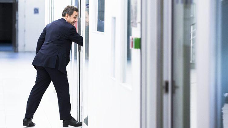 (Ce lundi Nicolas Sarkozy s'est aussi adressé aux permanents © MAXPPP)