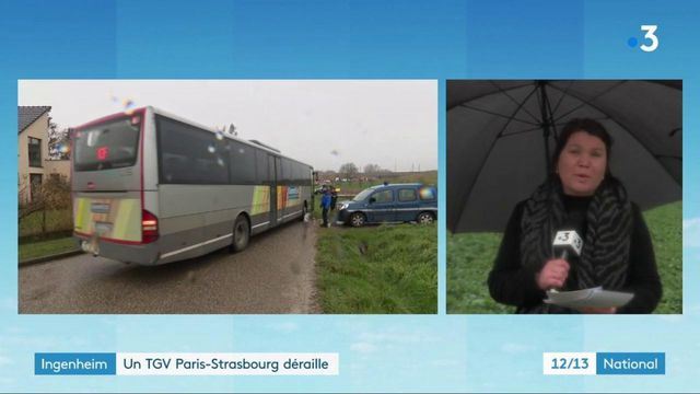 Bas-Rhin : les 350 passagers du train accidenté en cours d'évacuation