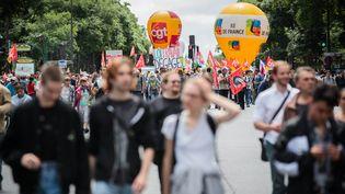 Le défilé parisien contre la loi Travail, mardi 5 juillet 2016. (MAXPPP)