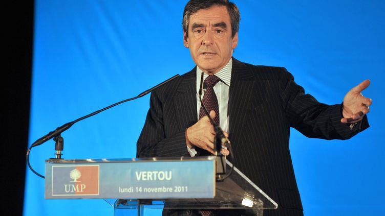 Le Premier ministre François Fillon à Vertou, le 14 novembre 2011 (FRANK PERRY / AFP)