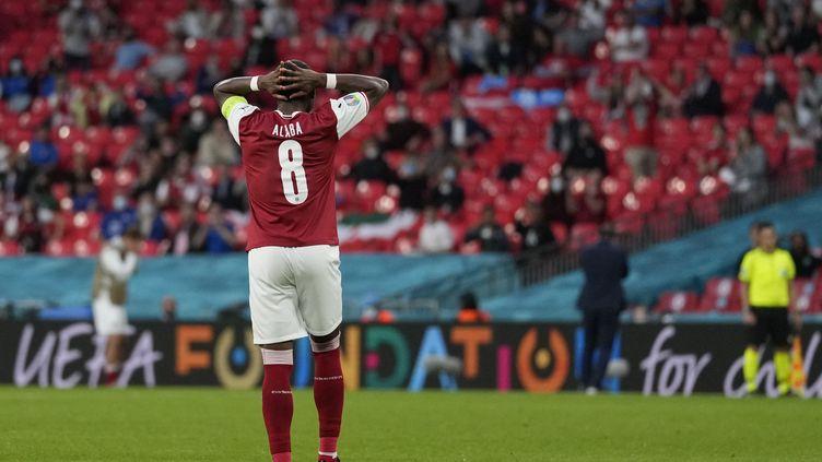 David Alaba contre l'Italie, le 26 juin 2021. (FRANK AUGSTEIN / POOL / AFP)
