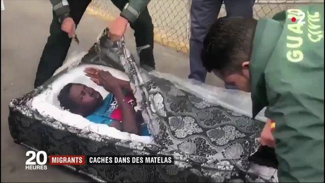 Migrants : cachés dans des matelas