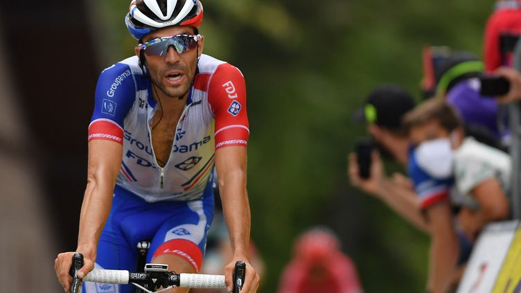 Thibaut Pinot devrait s'aligner au départ du Tour d'Espagne (JUSTIN SETTERFIELD / AFP)