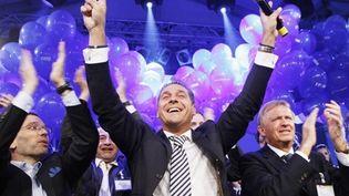 Heinz-Christian Strache, leader de l'extrême-droite, après son meilleur score aux municipales en Autriche (oct. 2010) (AFP - Dieter Nagl)