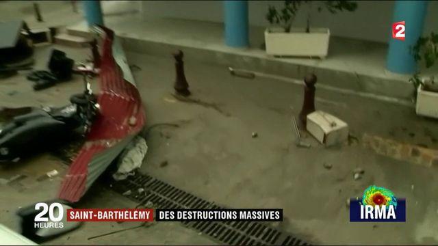Irma : des destructions massives à Saint-Barthélémy
