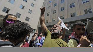 Des manifestants dans le centre de Beyrouth (Liban), le 20 juillet 2020. (JOSEPH EID / AFP)