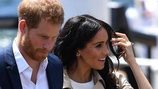 Le prince Harry et son épouse Meghan Markle à Sydney, en Australie, le 16 octobre 2018. (DAN HIMBRECHTS / POOL / AFP)