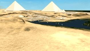 Les Pyramides de Gizeh en 3D grâce au système Dassault  (France 3 - Culturebox)