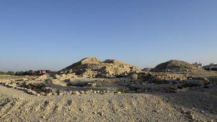 Site d'une nécropole de la civilisation Dilmoun,le 2 juillet 2019 à Bahrein (STR / AFP)
