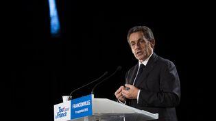 Nicolas Sarkozy en meeting à Franconville, le 19 septembre 2016. (MARTIN BUREAU / AFP)