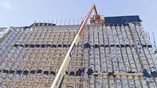 La nouvelle cathédrale de Christchurch (Nouvelle-Zélande), construite en tubes de carton  (Caters News Agency /SIPA)