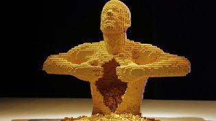 Une sculpture en Lego de l'artiste new-yorkais Nathan Sawaya est exposée au ArtScience museum de Singapour, le 9 janvier 2013. (MAXPPP)