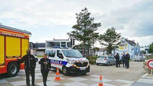 La police se trouve sur les lieux d'un accident qui a tué un enfant et blessé gravement un autre à Lorient (Morbihan), le 9 juin 2019. (MAXPPP)