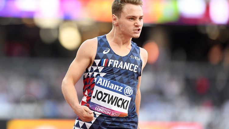 Dimitri Jozwicki lors des Championnats du monde d'athlétisme handisport à Londres, en 2017.  (VICTORIA JONES / MAXPPP)