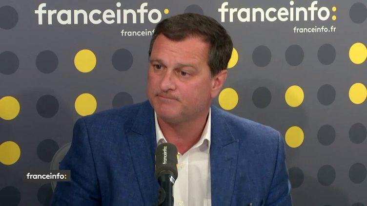 Louis Aliot, député Rassemblement national, le 7 juin 2018. (RADIO FRANCE / FRANCEINFO)