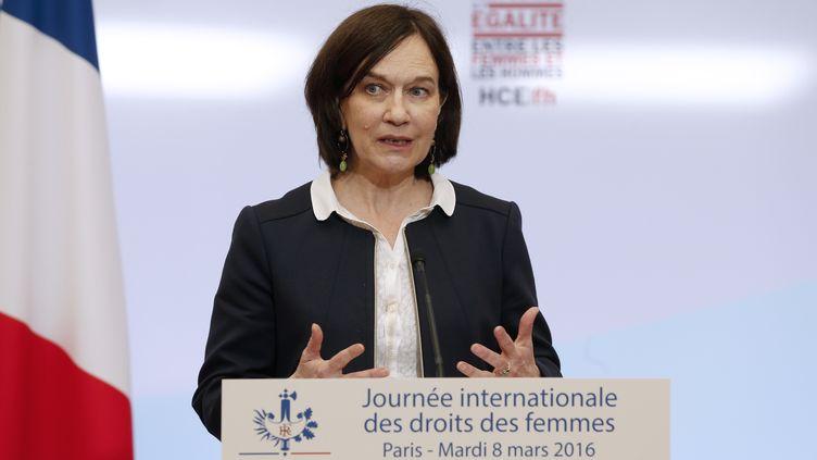 Laurence Rossignol,ministre des Droits des femmes, à l'Elysée, à Paris, le 8 mars 2016. (THOMAS SAMSON / AFP)