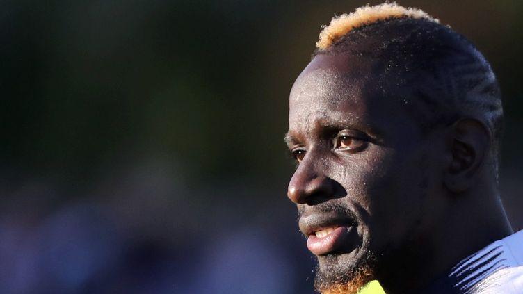 Mamadou Sakho, lors d'un rassemblement de l'équipe de France à Clairefontaine en 2018. (ARNAUD JOURNOIS / MAXPPP)