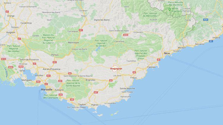 Une course poursuite s'est déroulée dans les rues de Draguignan. (GOOGLE MAPS)