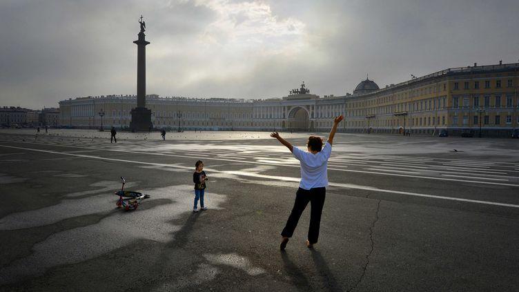 Le centre-ville de Saint-Pétersbourg (Russie), le 1er septembre 2013. (  MAXPPP)