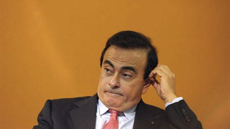 Carlos Ghosn. Le patron de Renault a été le mieux payé du CAC 40 en 2010 (AFP/MIGUEL MEDINA)