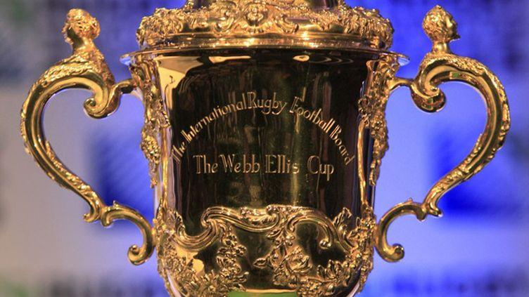 Le trophée de la Coupe du Monde de rugby