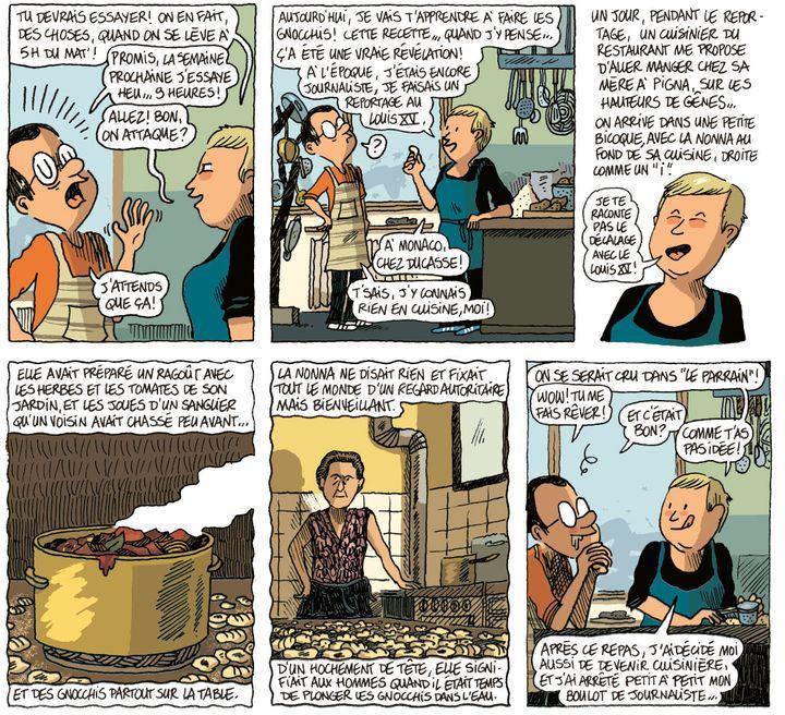 """""""A boire et à manger avec Sonia Ezgulian"""" page 15  (Guillaume Long / Gallimard BD)"""