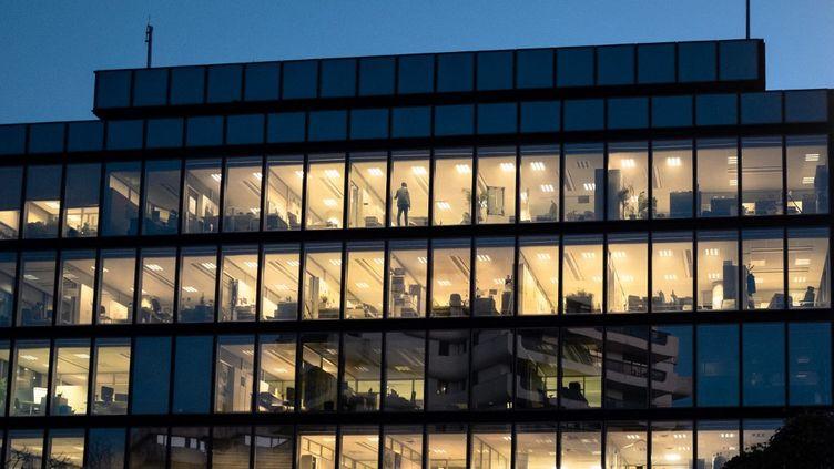 Des bureaux à Bordeaux (Gironde), le 18 novembre 2020. (VALENTINO BELLONI / HANS LUCAS / AFP)