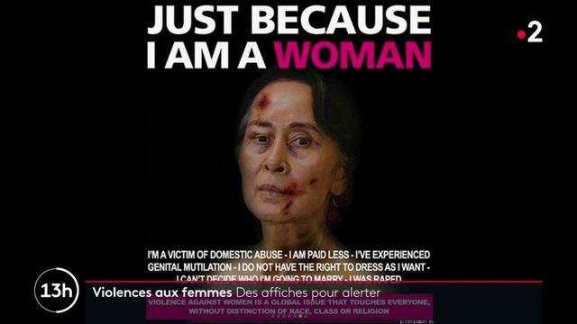 Italie : des affiches pour alerter sur les violences faites aux femmes