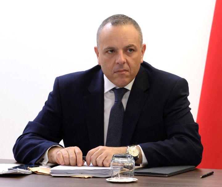 Keith Schembri, le directeur de cabinet du Premier ministre de Malte Joseph Muscat, en 2017. (MATTHEW MIRABELLI / AFP)