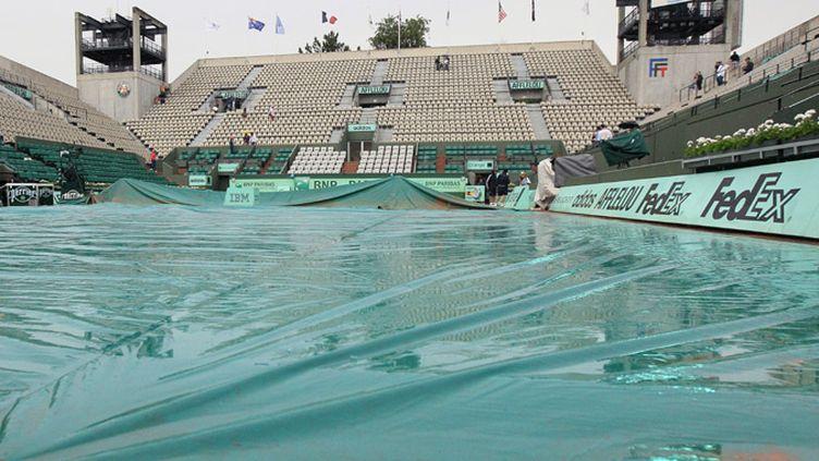 La pluie a interrompu la quatrième journée des Internationaux de France à Roland-Garros