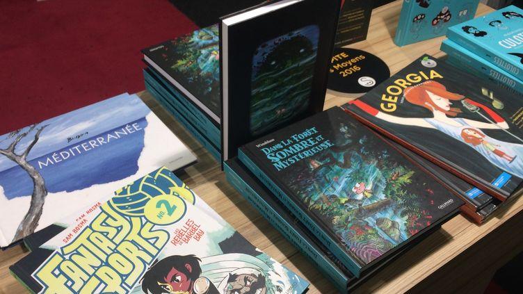 La BD Jeunesse, stand Gallimard, Montreuil 2016  (laurence Houot / Culturebox)