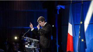(Arnaud Montebourg ce jeudi, lors de la présentation de sa feuille de route du redressement économique de la France. © IP3 Press/MaxPPP)