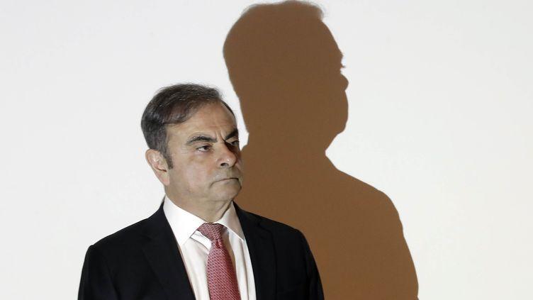 Carlos Ghosn, le 8 janvier 2020, àBeyrouth (Liban). (JOSEPH EID / AFP)