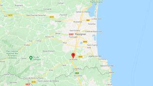 Boulou (Pyrénées-Orientales). (CAPTURE D'ECRAN GOOGLE MAPS)