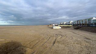 La plage de Berck-sur-Mer (Pas-de-Calais), le 26 novembre 2013, quelques jours après la découverte ducorps sans vie d'Adélaïde, 15 mois. (DENIS CHARLET / AFP)