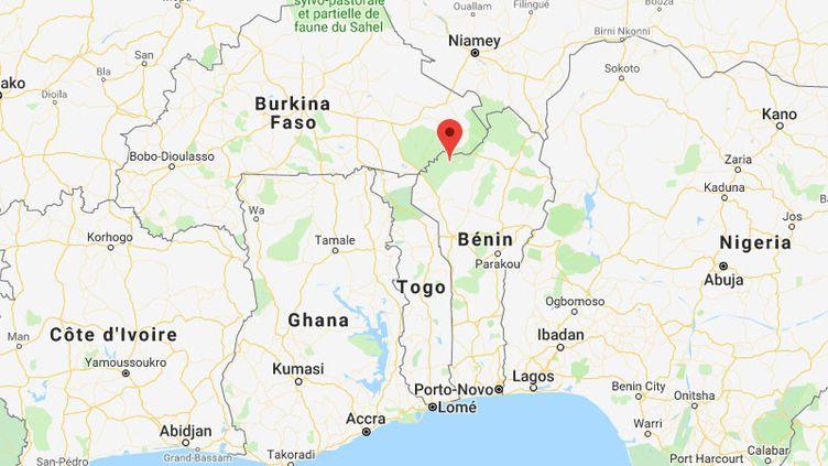 Les deux Français visitaient le parcde la Pendjari au nord du Bénin. (GOOGLE MAPS)