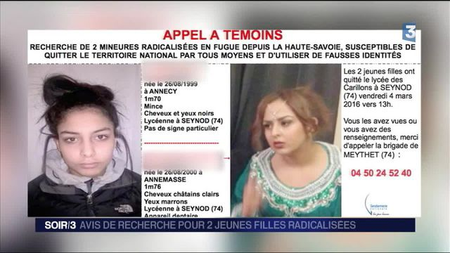 Deux lycéennes suspectées de radicalisme toujours recherchées