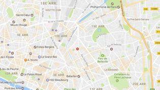 Capture écran Google Maps du quartier Curial, dans le 19e arrondissement de Paris, lundi 27 mars 2017. (GOOGLE MAPS)